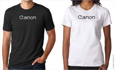 Canon vintage logo t-shirt at Vintage Camera Lab