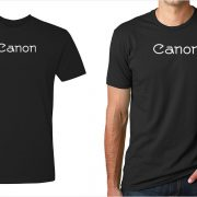 Canon vintage logo men's black t-shirt at Vintage Camera Lab