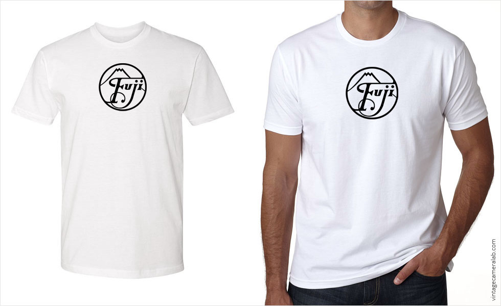 Fujifilm / Fuji vintage logo men's white t-shirt at Vintage Camera Lab