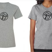Fujifilm / Fuji vintage logo women's grey t-shirt at Vintage Camera Lab