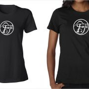 Fujifilm / Fuji vintage logo women's black t-shirt at Vintage Camera Lab