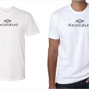Hasselblad vintage logo men's white t-shirt at Vintage Camera Lab
