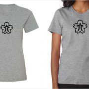 Konica vintage logo women's grey t-shirt at Vintage Camera Lab