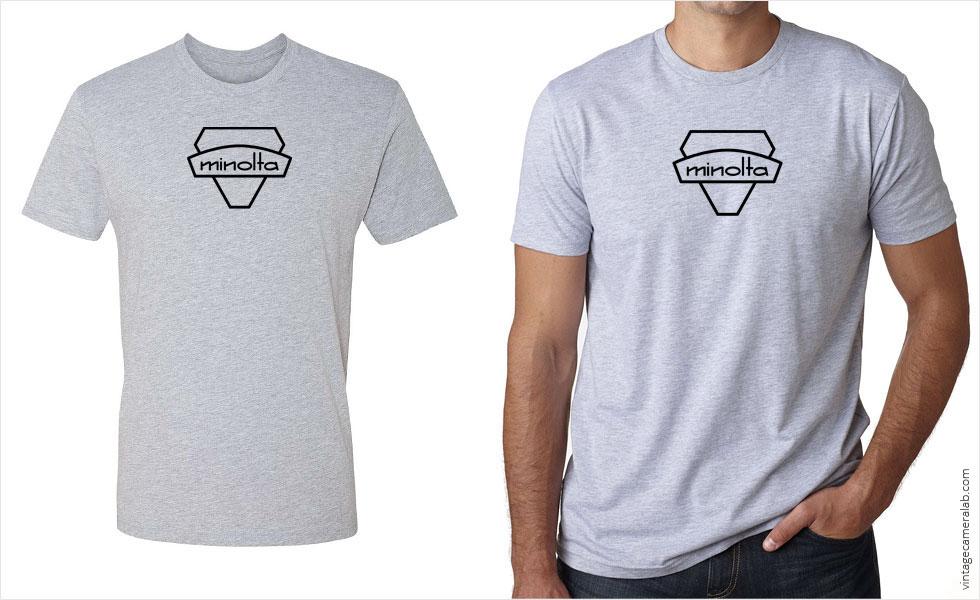 Minolta vintage logo men's grey t-shirt at Vintage Camera Lab