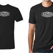 Olympus vintage logo men's black t-shirt at Vintage Camera Lab
