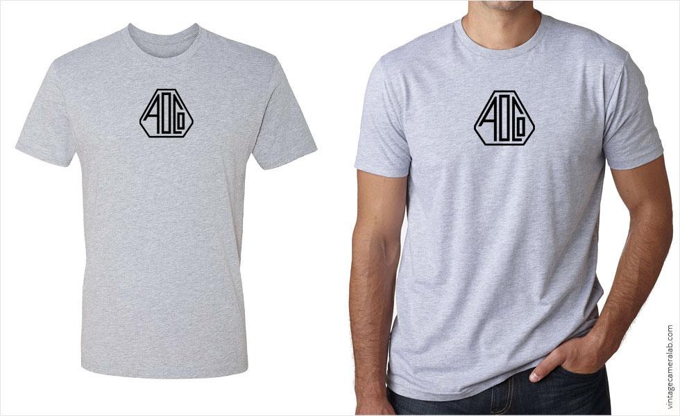 Pentax / Asahi Optical Co. vintage logo men's grey t-shirt at Vintage Camera Lab
