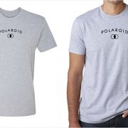 Polaroid vintage logo men's grey t-shirt at Vintage Camera Lab