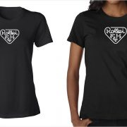 Rollei vintage logo women's black t-shirt at Vintage Camera Lab