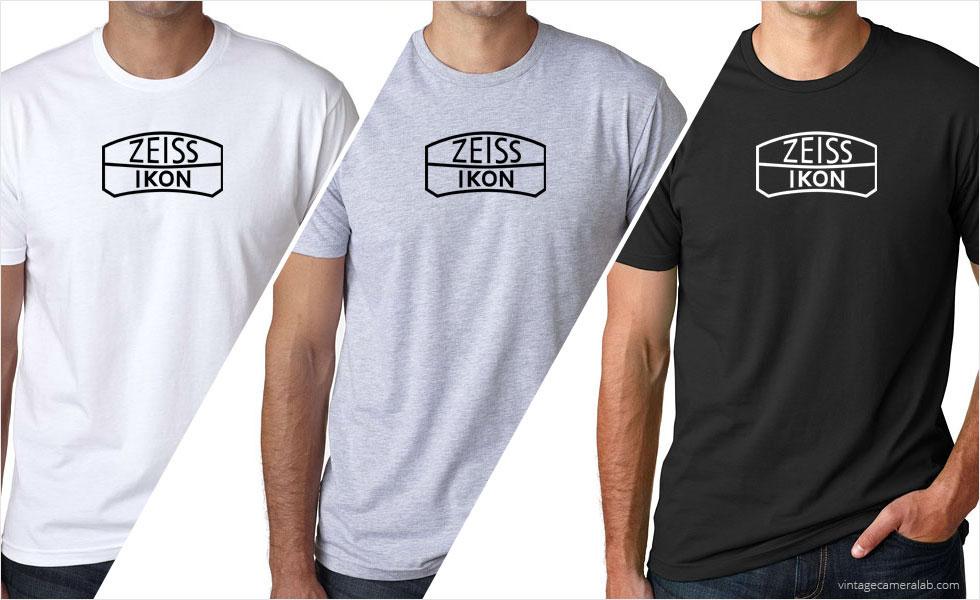Zeiss Ikon vintage logo men's white t-shirt at Vintage Camera Lab
