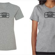 Zeiss Ikon vintage logo women's grey t-shirt at Vintage Camera Lab