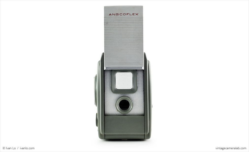 Ansco Anscoflex (front view, viewfinder open)