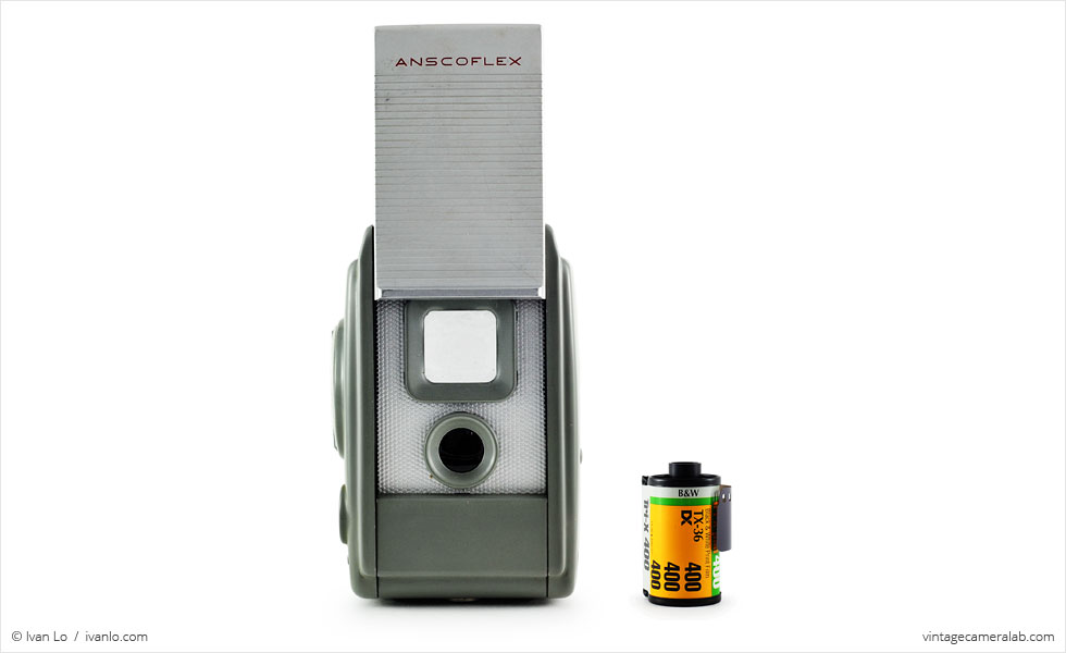 Ansco Anscoflex (with 35mm cassette for scale)