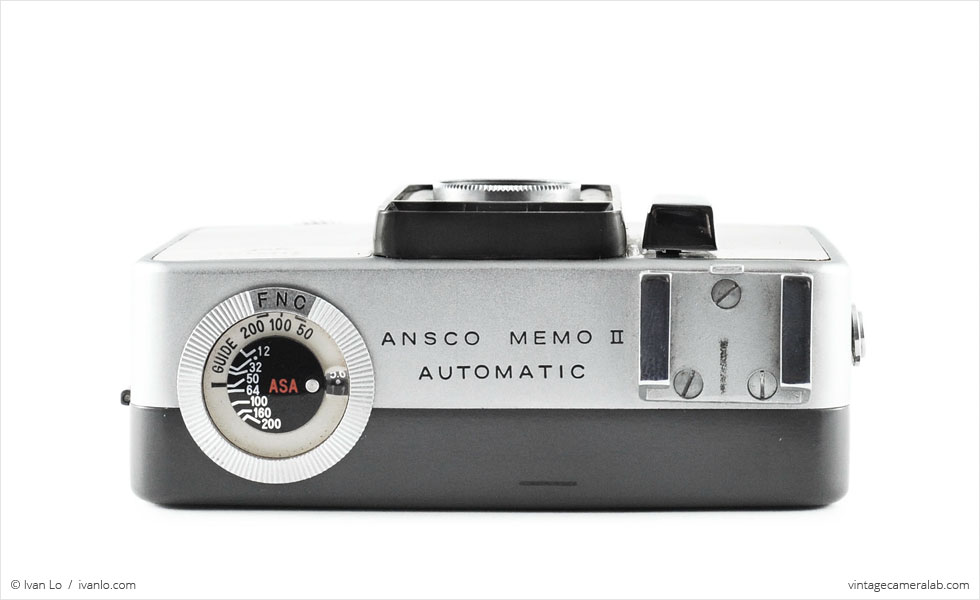 Ansco Memo II Automatic (top view)
