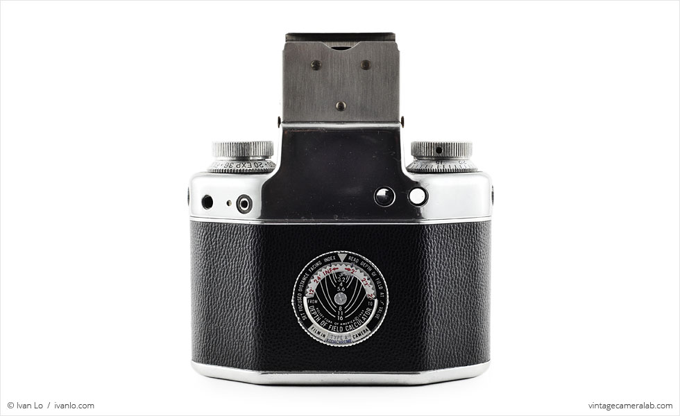 Bolsey Model C (rear view, viewfinder open)