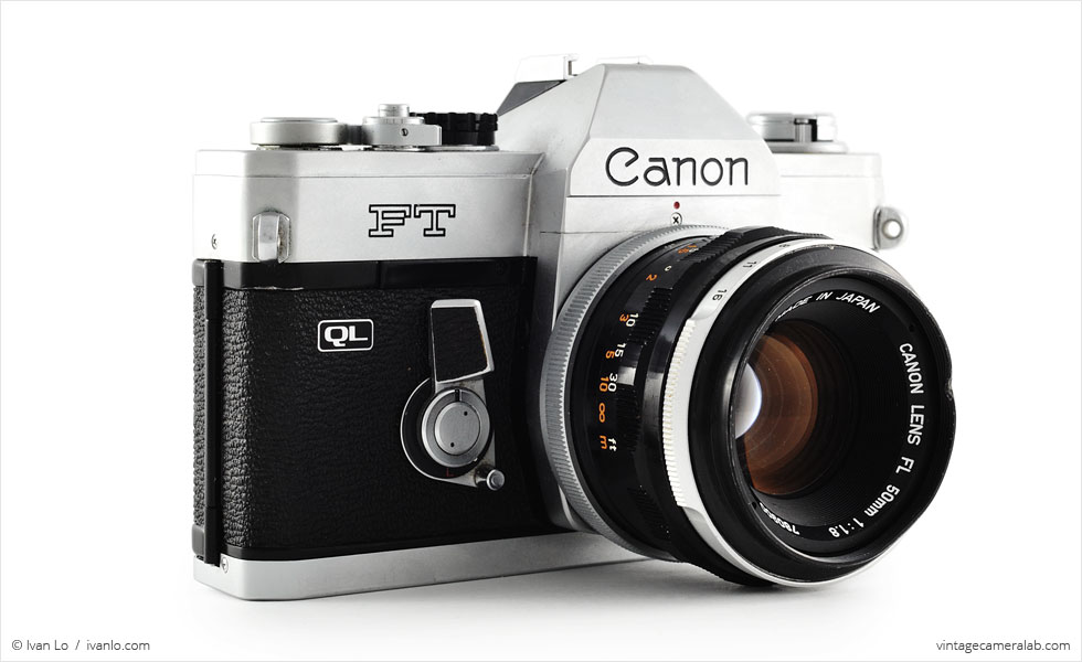 Canon FT QL (three quarters, with Canon FL 50mm f/1.8)