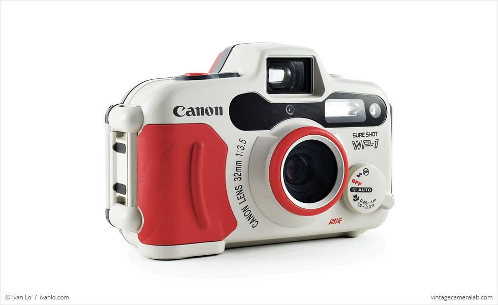Canon Sure Shot WP-1 (three quarters)