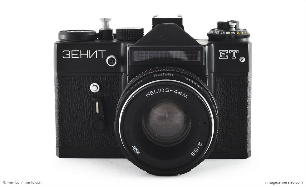 KMZ Zenit ET (front view with Helios-44M 58mm f/2)