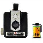 Kodak Brownie Hawkeye (with 35mm cassette for scale)