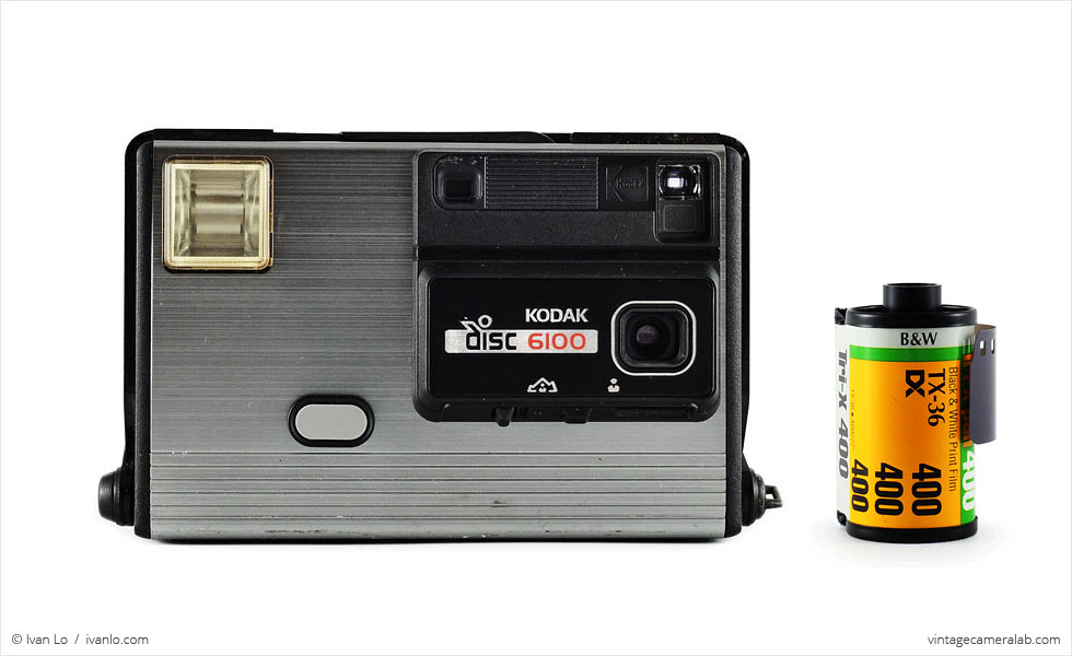 Kodak Disc 6100 (with 35mm cassette for scale)
