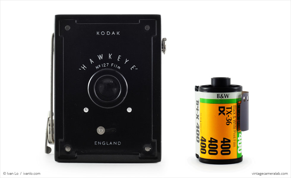 Kodak Hawkeye (with 35mm cassette for scale)