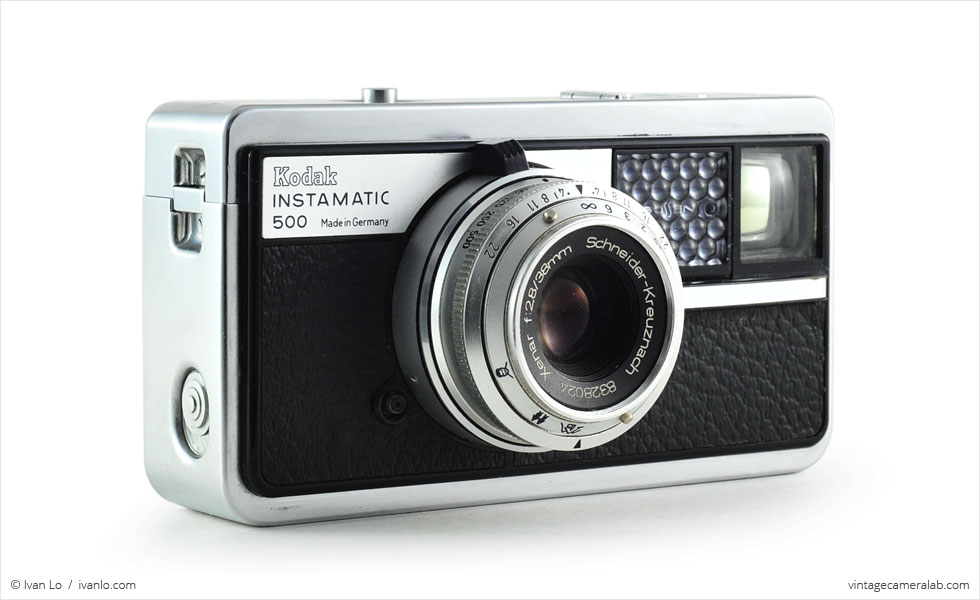 Kodak Instamatic 500 (three quarters, lens extended)