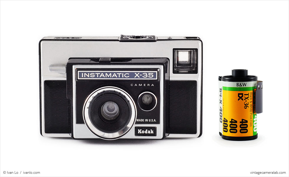 Kodak Instamatic X-35 (with 35mm cassette for scale)
