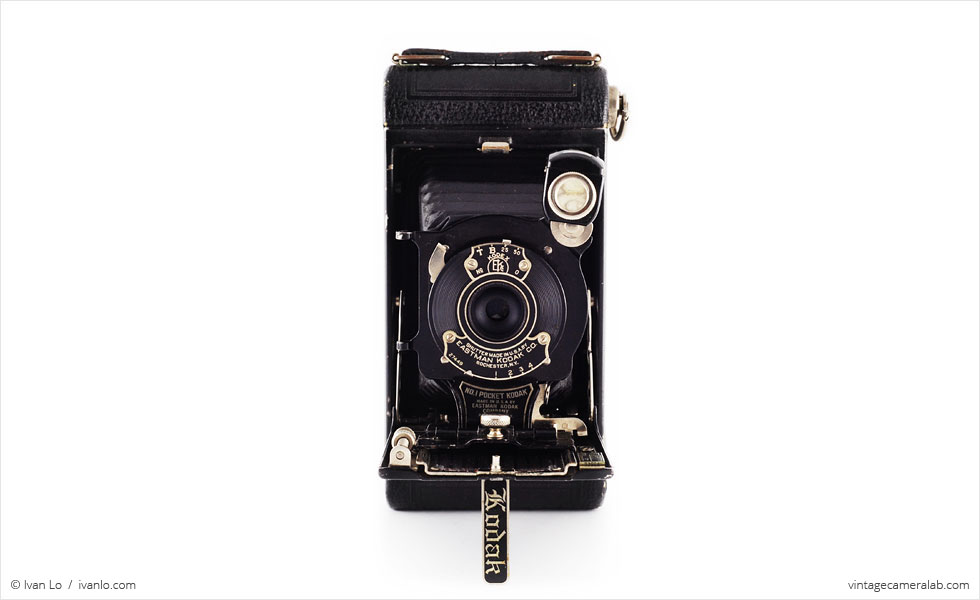 No.1 Pocket Kodak (front view, open)
