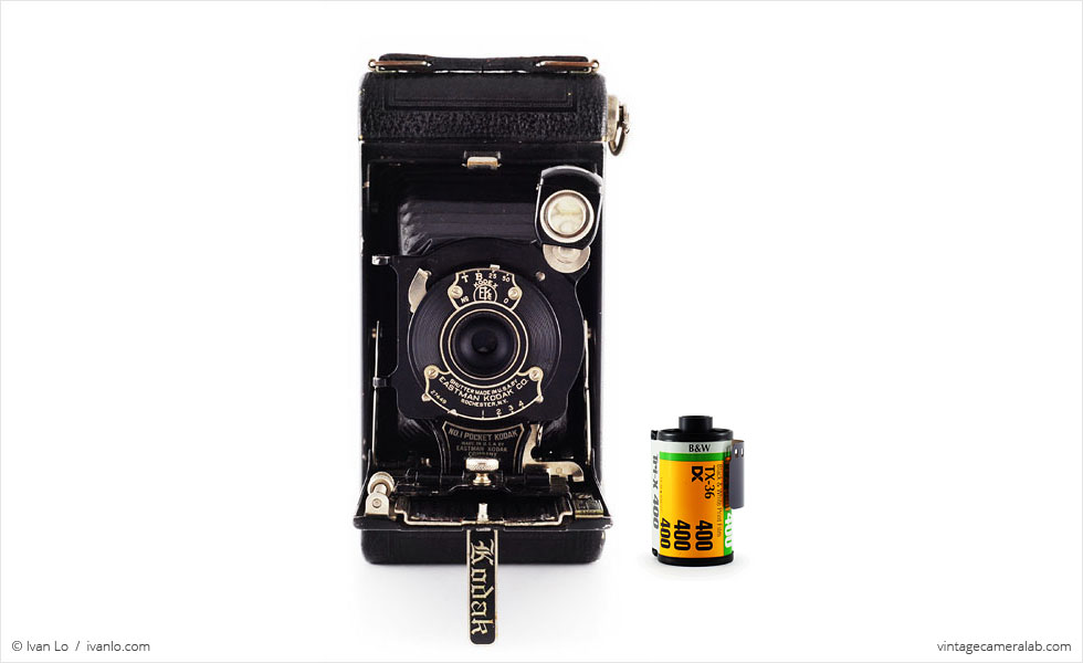 No.1 Pocket Kodak (with 35mm cassette for scale)