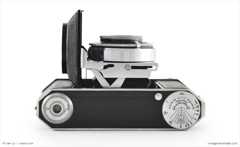 Kodak Retina II (top view, open}