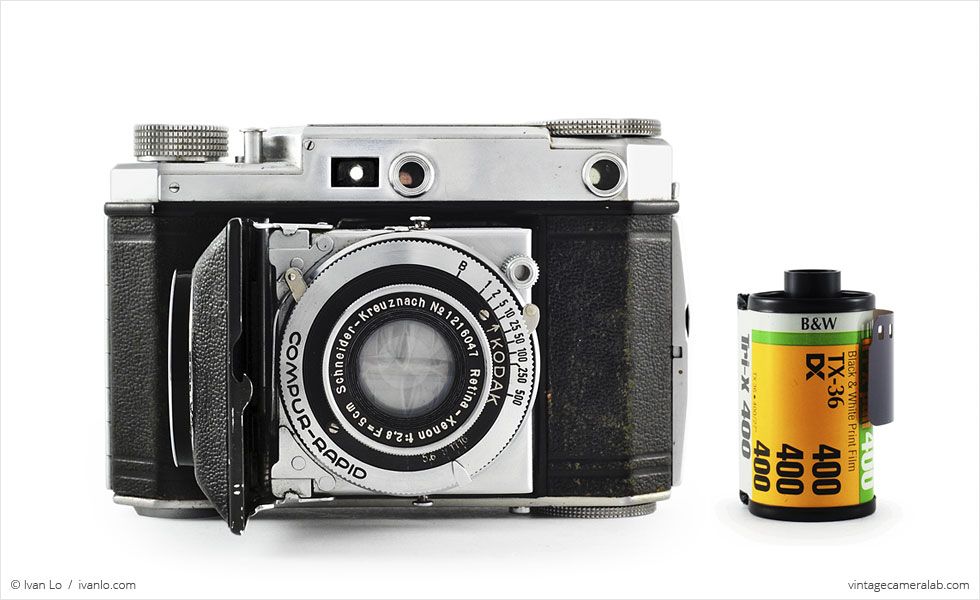Kodak Retina II (with 35mm cassette for scale)