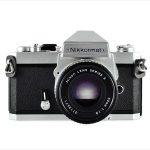 Nikon Nikkormat FT3 (front view, with Nikkor 50mm f/1.8 lens)