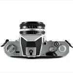 Nikon Nikkormat FT3 (top view, with Nikkor 50mm f/1.8 lens)