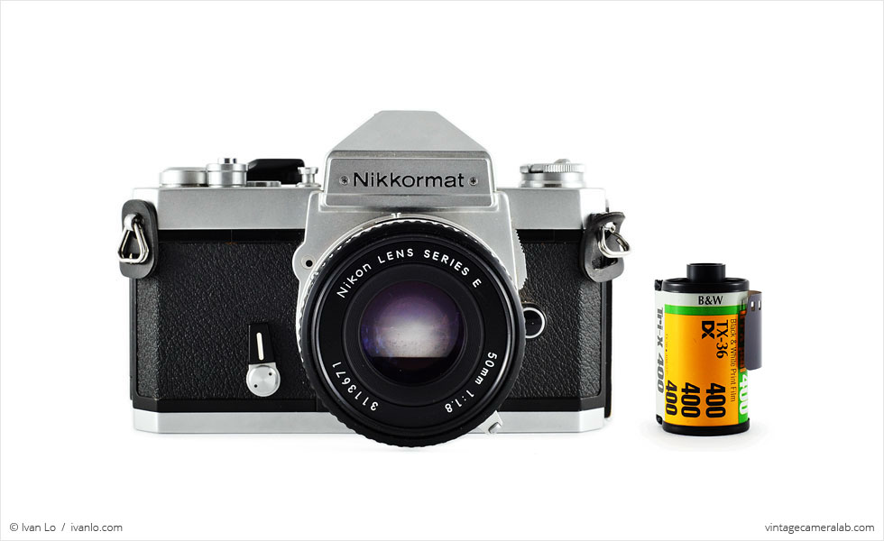 Nikon Nikkormat FT3 (with 35mm cassette for scale)