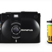 Olympus XA (with 35mm cassette for scale)