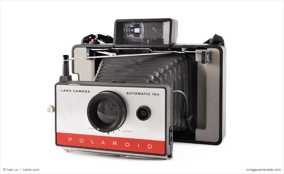 Polaroid Land Model 104 (three quarters, open)
