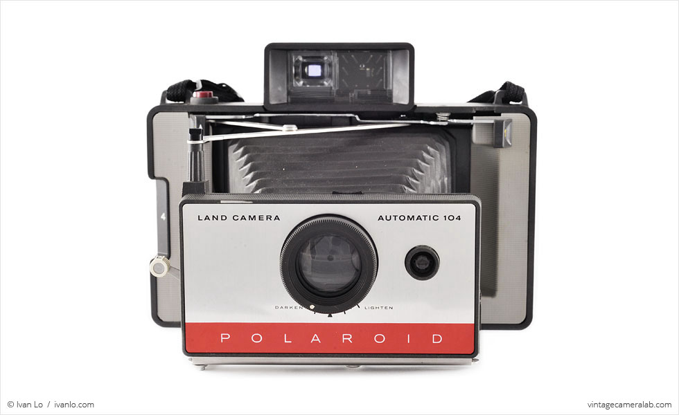Polaroid Land Model 104 (front view, open)