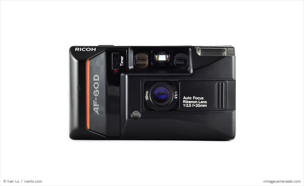 Ricoh AF-60D (front view, lens exposed)