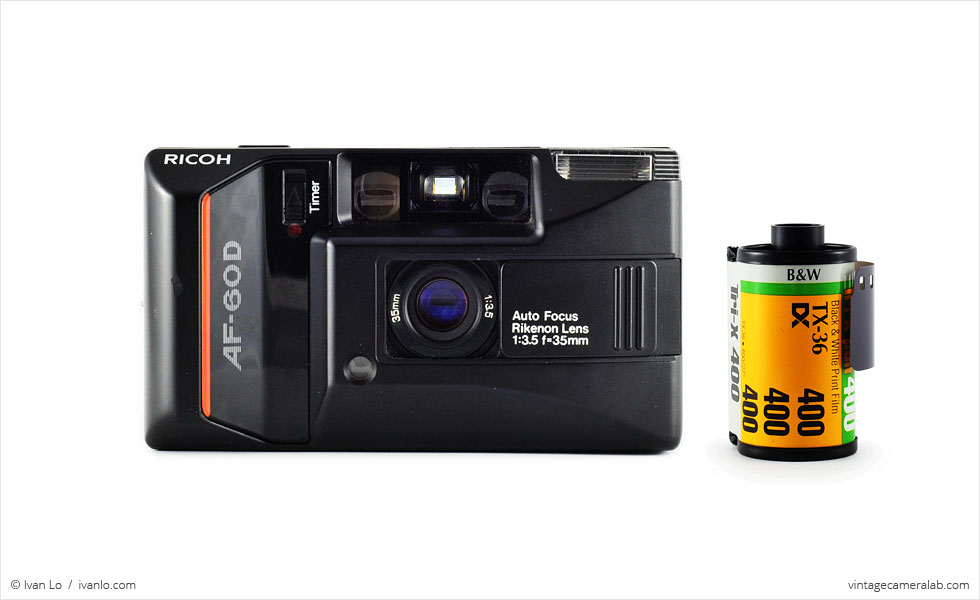 Ricoh AF-60D (with 35mm cassette for scale)