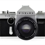 Ricoh Singlex TLS (front view, with Petri C.C Auto 55mm f/1.8)