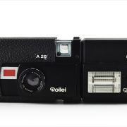 Rollei A26 (front view, open with C26 flash attachment)