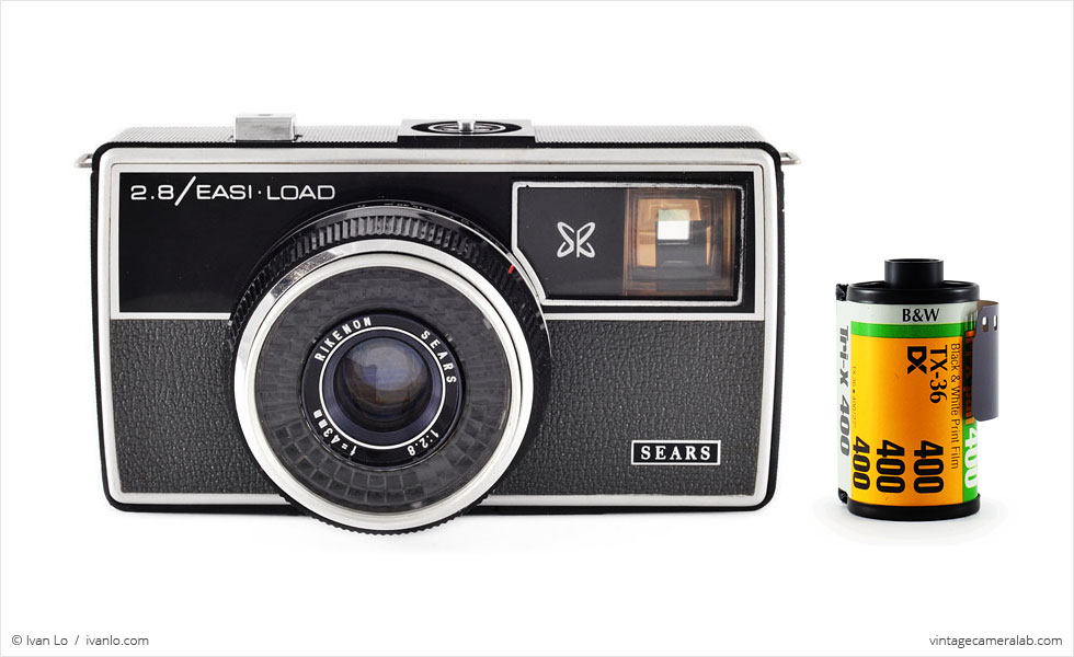 Sears 2.8 / Easi-Load (with 35mm cassette for scale)