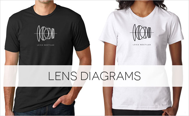 Buy a Leica Noctilux lens diagram T-shirt on Vintage Camera Lab