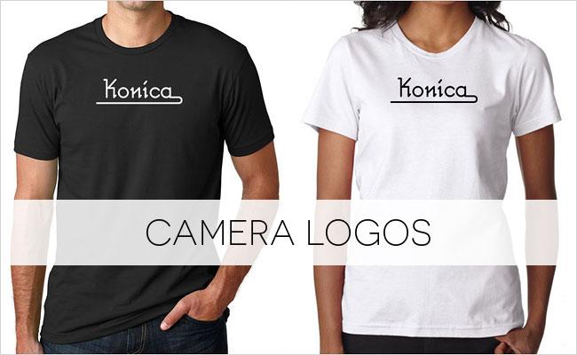 Buy a vintage Konica logo T-shirt on Vintage Camera Lab