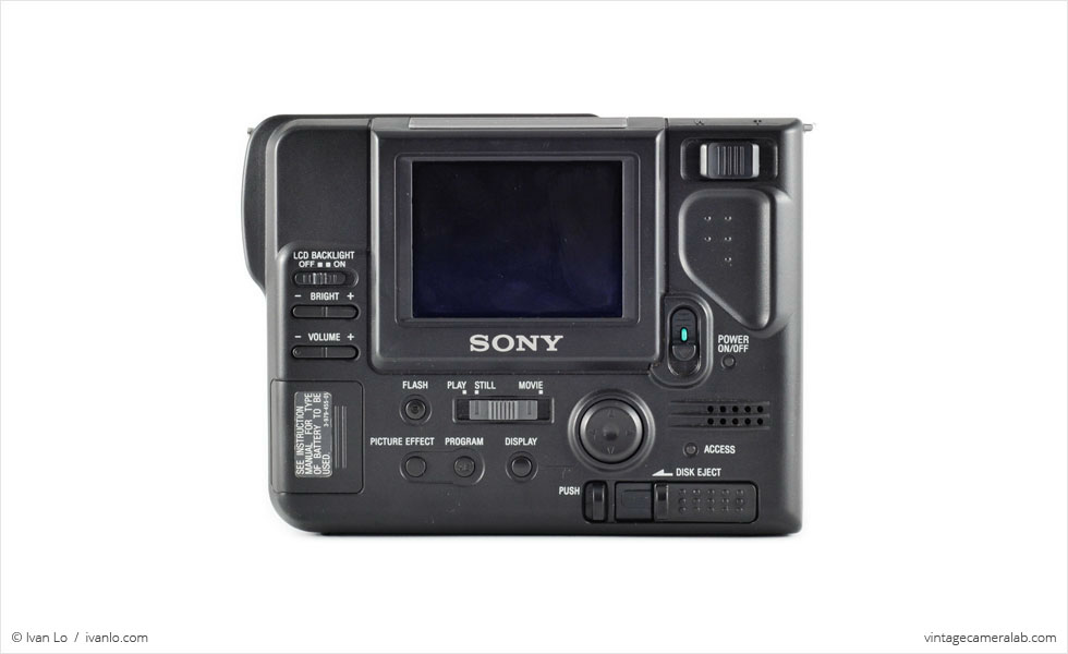 Sony Digital Mavica FD-81 (rear view)