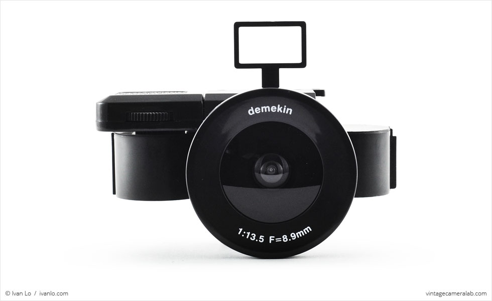 PowerShovel Demekin Fisheye (front view, viewfinder up, with film)