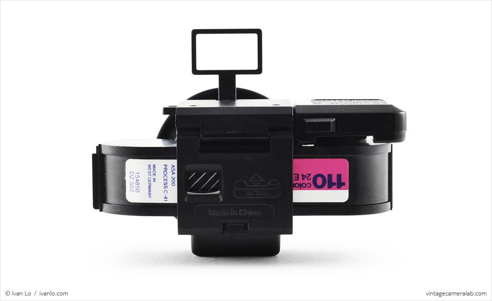 PowerShovel Demekin Fisheye (rear view, viewfinder up, with film)