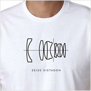 Buy a Zeiss Distagon Lens Diagram T-shirt on Vintage Camera Lab