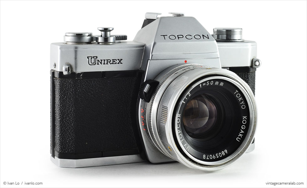 Topcon Unirex (three quarters with UV Topcor 50mm f/2)