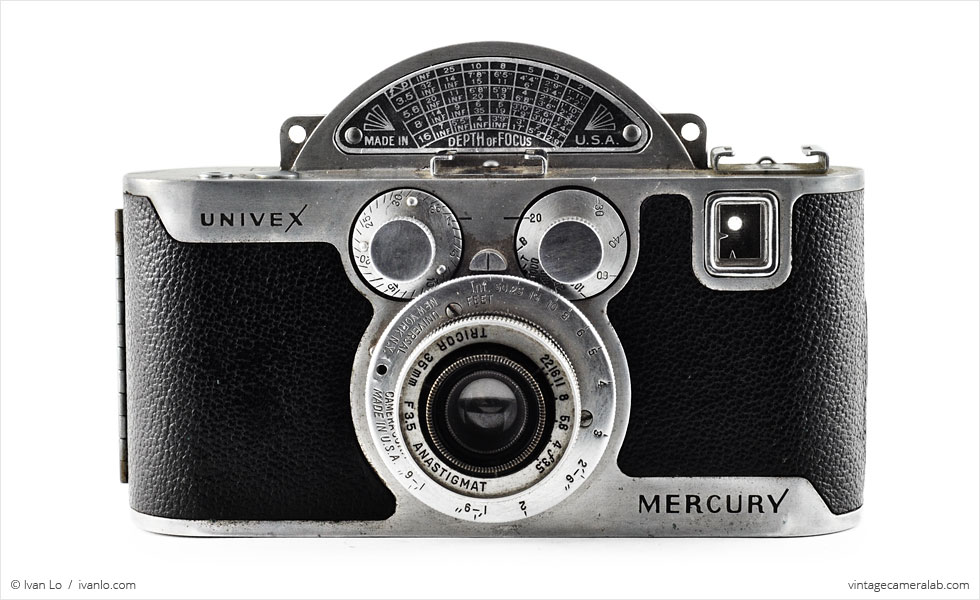 Univex Mercury CC with Tricor 35mm f/3.5 Anastigmat (front view)