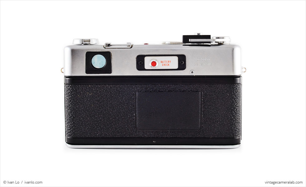 Yashica Electro 35 GS (rear view)